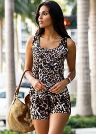 Front view Leopard Romper