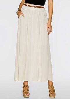 pocket detail maxi skirt