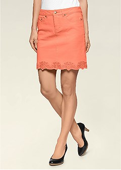 trim detail mini skirt