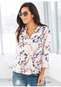 Front view Floral Surplice Top