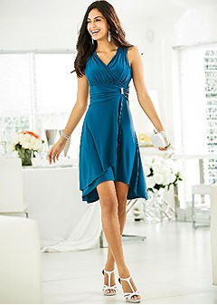 ruched detail party dress