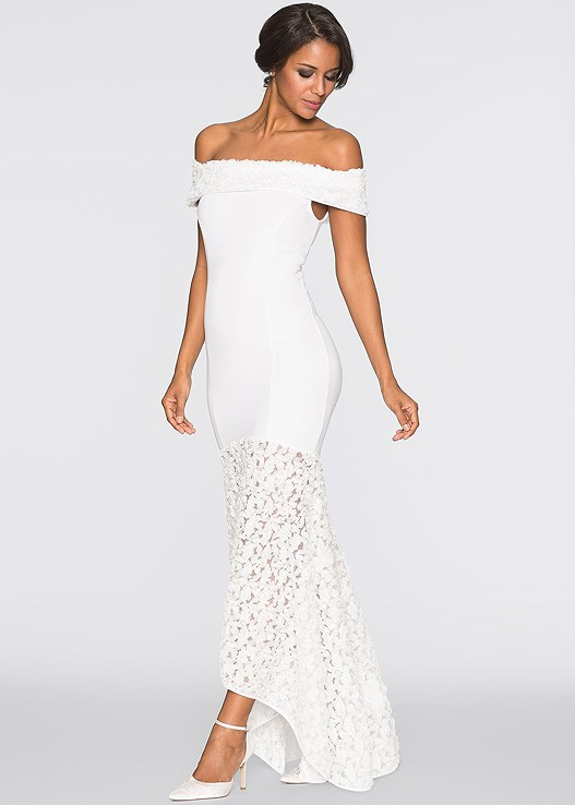 Strapless Wedding Dress in White | VENUS