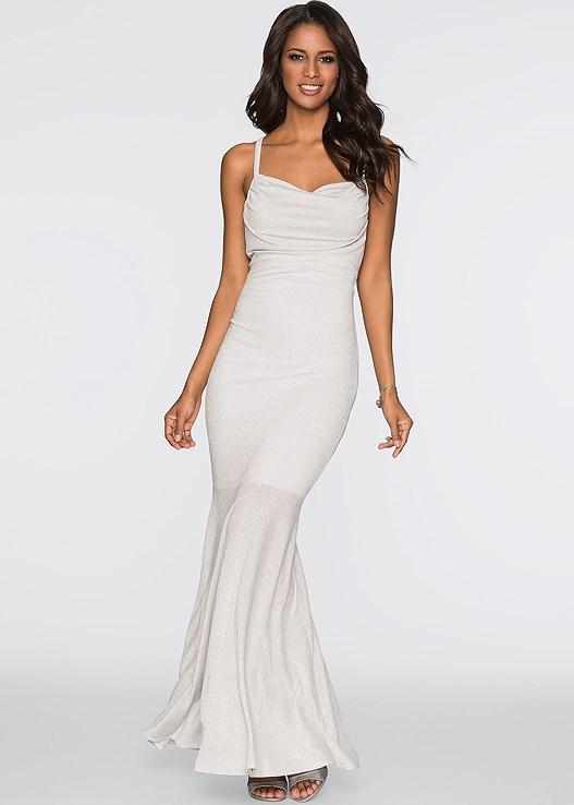 Glitter Wedding Dress in Silver | VENUS