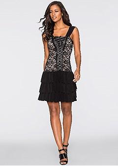 lace up party dress