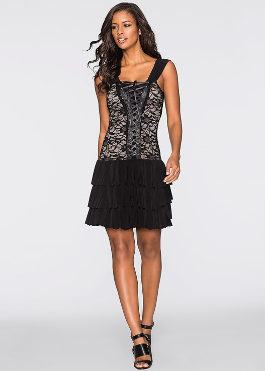 LACE UP PARTY DRESS