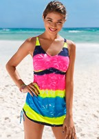 rainbow tankini top