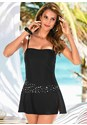 Front view Bandeau Swim Dress