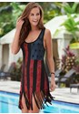 Front view Fringe Tank Dress