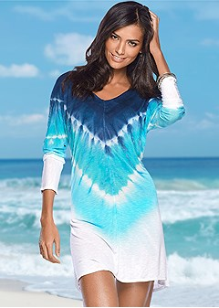 tie dye cover-up