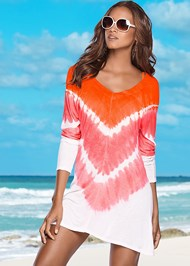 Front view Tie Dye Cover-Up