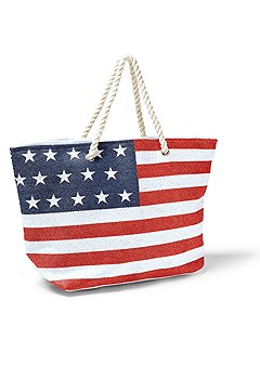 stars and stripes beach bag