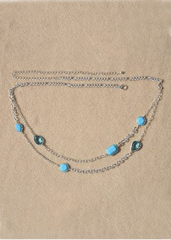 multi stone belly chain