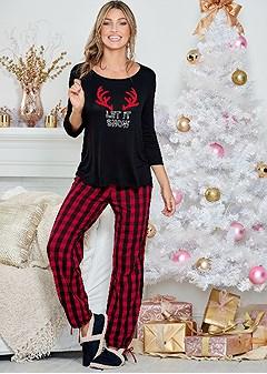 let it snow pajama set