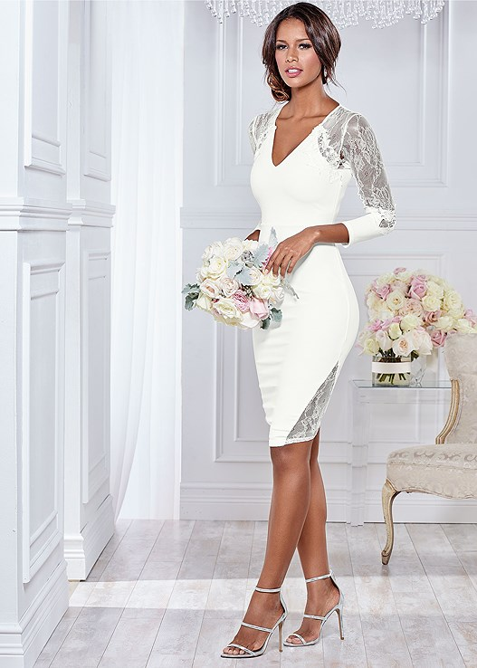 LACE DETAIL FORMAL DRESS