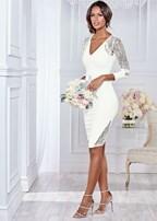 lace detail formal dress