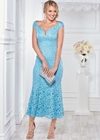 long lace formal dress