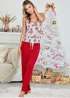 snowflake pajama pant set