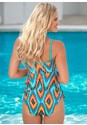 Back view Ruffle Bandeau Tankini Top