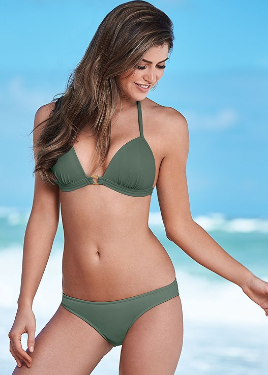 5bc18d515d7a6 Army Green ENHANCER PUSH UP TRIANGLE Bikini