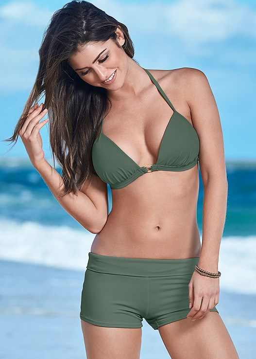 SWIM SHORT,ENHANCER PUSH UP TRIANGLE,ALLURING HIGH NECK TOP,UNDERWIRE HALTER BIKINI TOP,BEACH BELLA HALTER TOP