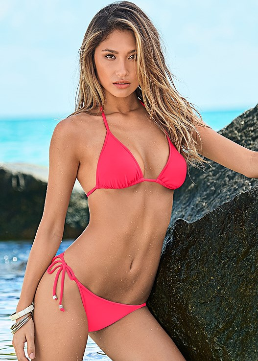 d591a62ec1126 Hot Pink TRIANGLE BIKINI TOP