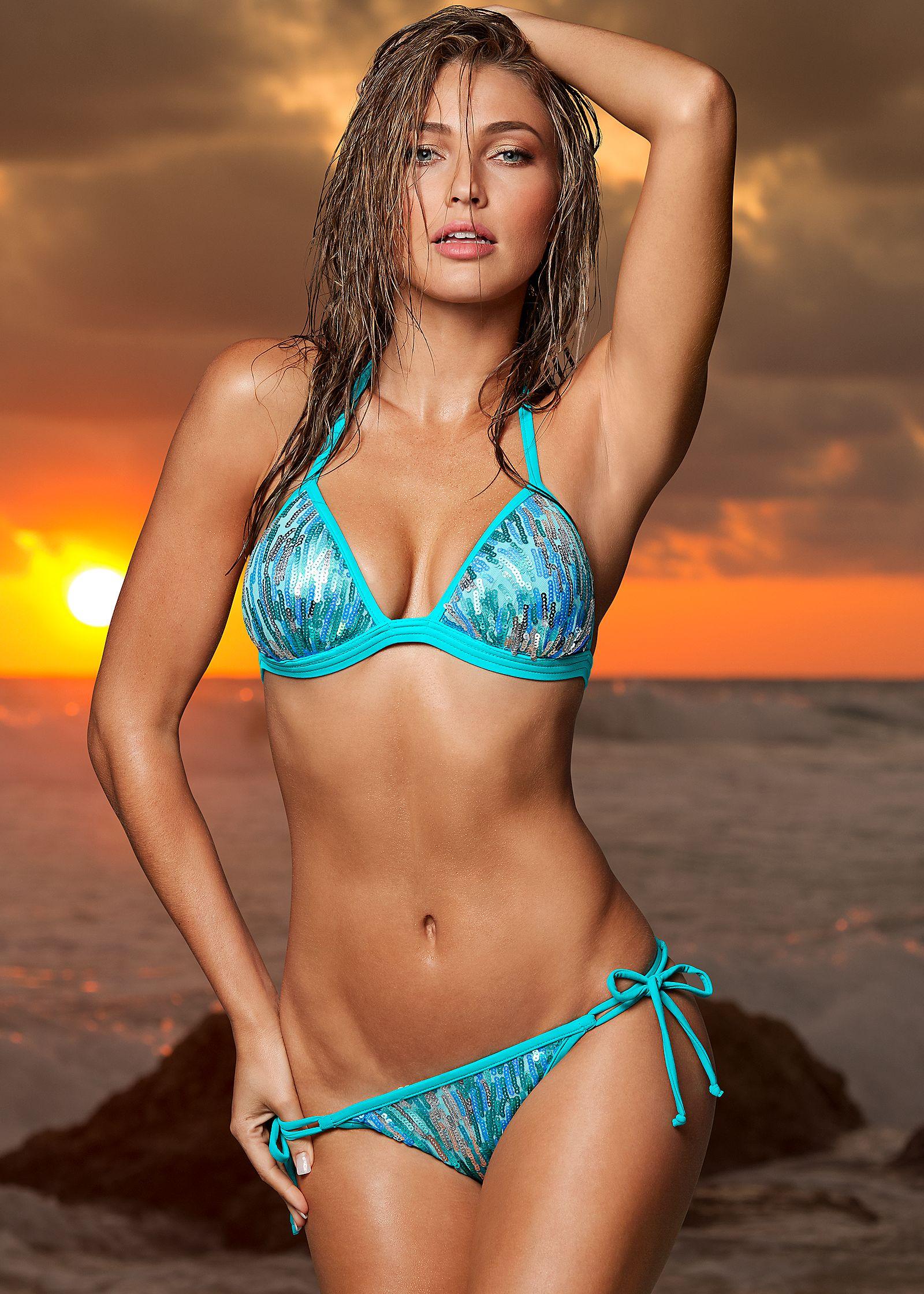 Wife in string bikini