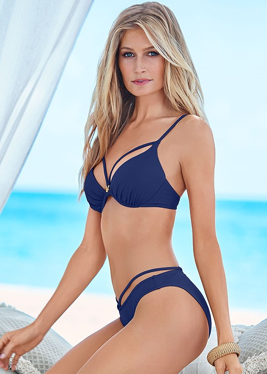 ENHANCING VALENTINA PUSH UP,LOW RISE BIKINI BOTTOM,SCOOP FRONT BIKINI BOTTOM,HIGH WAIST MODERATE BOTTOM