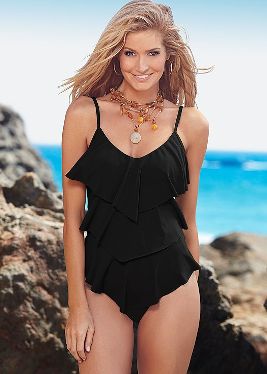 54dd5c318ee9d TIERED RUFFLE TANKINI TOP in Black Beauty