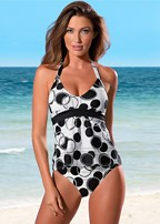 siren tankini top, high waist bikini