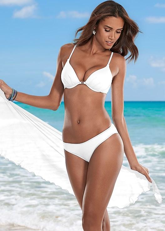 Bright White Scoop Front Bikini Bottom Bikini Venus