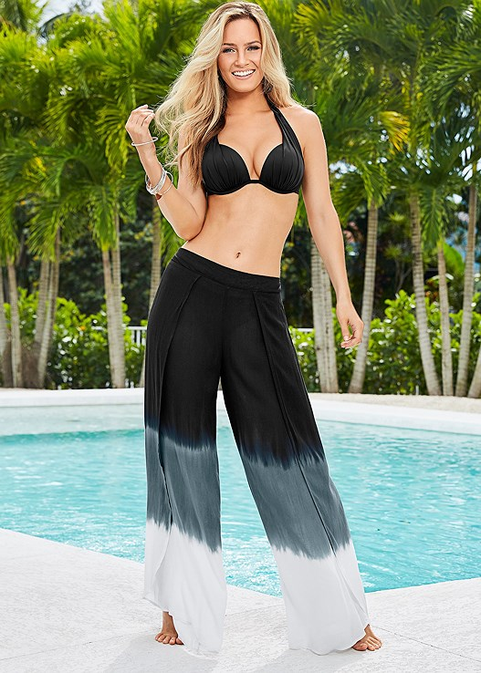 DIP DYE WRAP PANT,MARILYN PUSH UP BRA TOP