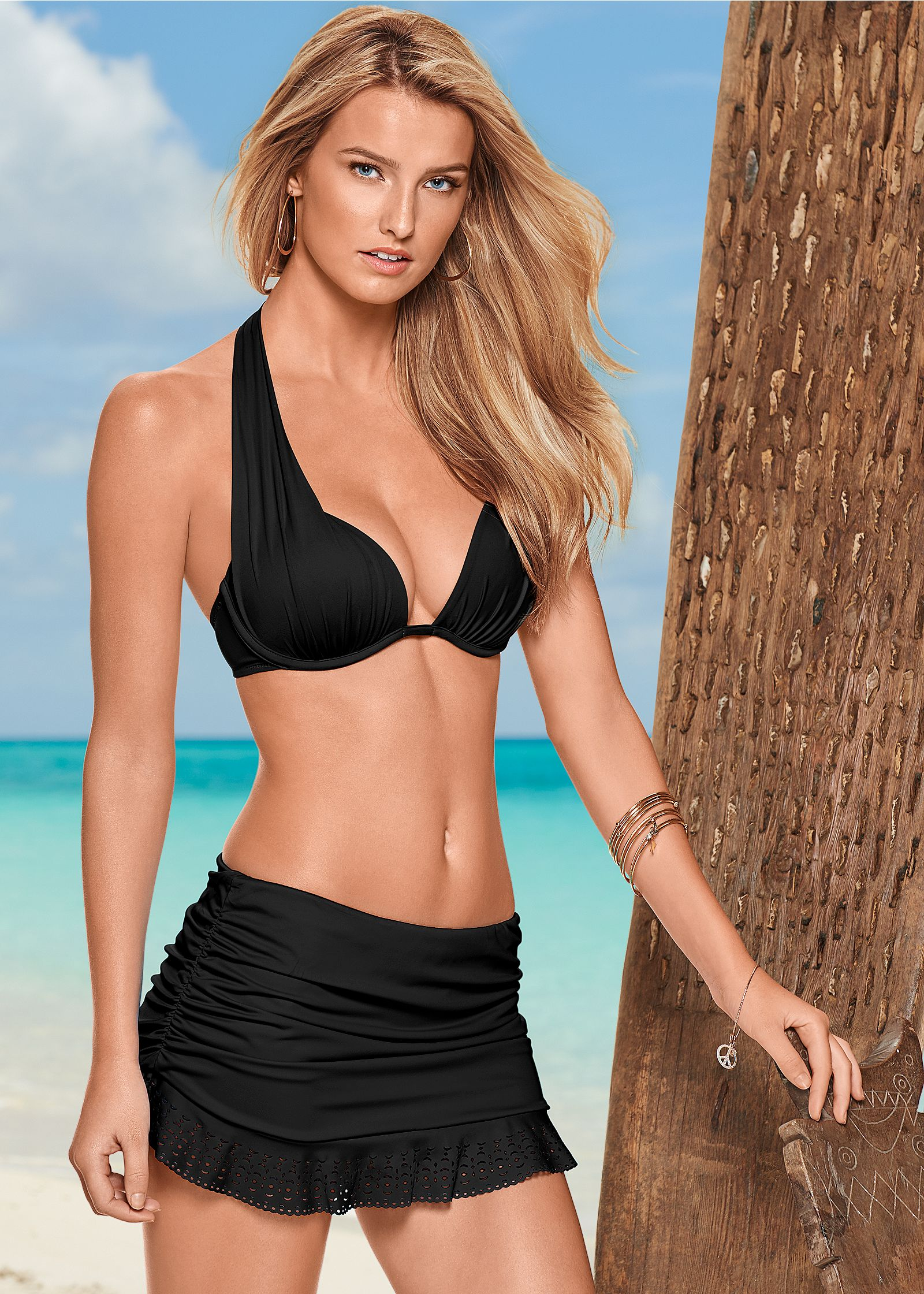 Skirted bikini swimsuit