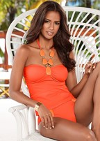 bold necklace tankini