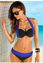 Front view Color Block Push Up Bra Top