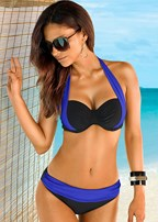 color block push up bra top