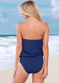 Back view Blouson Bandeau Bikini Top