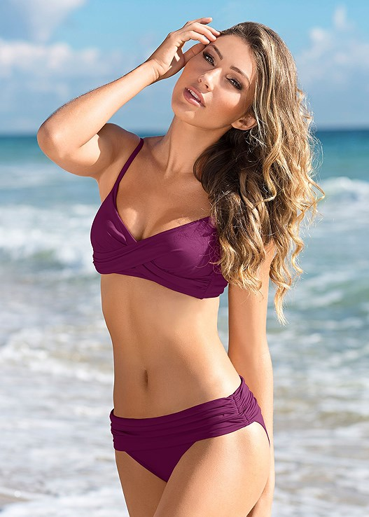 CARESS SPORT TOP,MID RISE FULL CUT BOTTOM,HIGH WAIST RING BOTTOM,MID RISE BOTTOM,STRING SIDE BIKINI BOTTOM