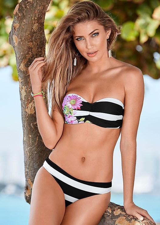 Scoop Front Bikini Bottom in Blissful Garden | VENUS