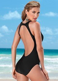 Back view Mesh Tank One-Piece
