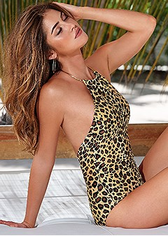 bare back one-piece