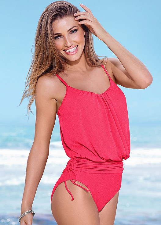 BLOUSON ONE-PIECE,BANDEAU DRESS,STARFISH BELLY CHAIN