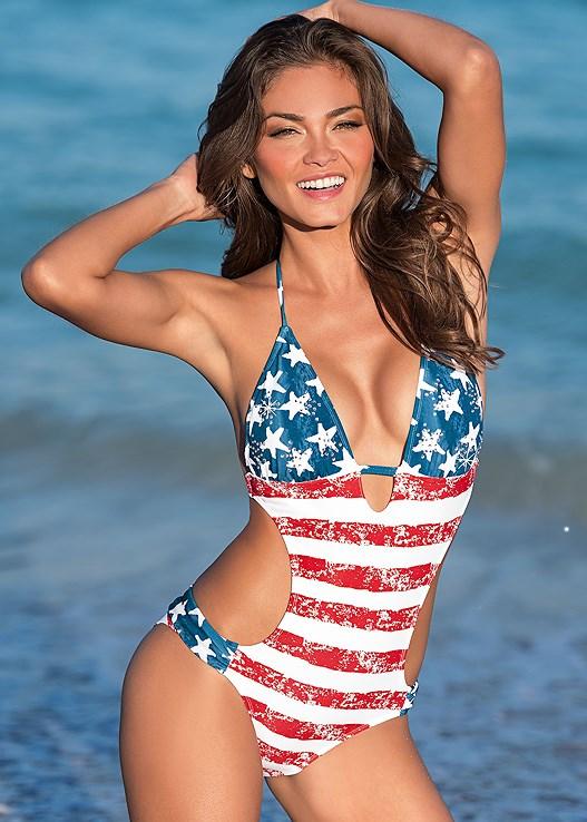 187d26917940f MONOKINI Swimsuit in American Beauty
