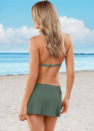 Back view Goddess Enhancer Push Up Halter Top