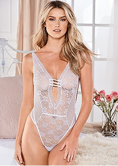 lace and straps teddy