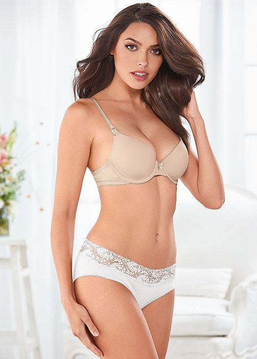 MEMORY FOAM DEMI BRA,LACE TOP BRIEF 5 FOR $29