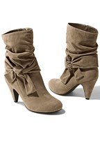 knotted slouchy boot