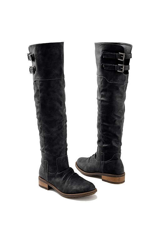 BUCKLE KNEE HIGH BOOT