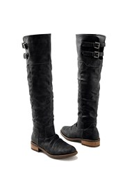 Front view Buckle Knee High Boots