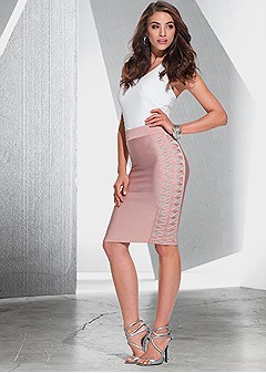 slimming crisscross skirt