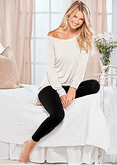 off shoulder sleep tee